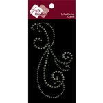 Zva Creative - Self-Adhesive Crystals - Peruet Flourish - Lime, CLEARANCE