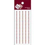 Zva Creative - Self-Adhesive Crystals - Basic Lines - .2 cm - Red, CLEARANCE
