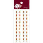 Zva Creative - Self-Adhesive Crystals - Basic Lines - .3 cm - Orange, CLEARANCE