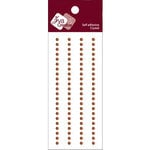 Zva Creative - Self-Adhesive Crystals - Basic Lines - .3 cm - Chocolate, CLEARANCE