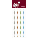 Zva Creative - Self-Adhesive Crystals - Basic Lines - .3 cm - Clear Champagne Lime and Blue, CLEARANCE