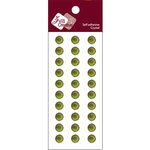 Zva Creative - Self-Adhesive Crystals - Basic Lines - .8 cm - Olive, CLEARANCE