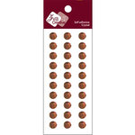Zva Creative - Self-Adhesive Crystals - Basic Lines - .8 cm - Chocolate, CLEARANCE