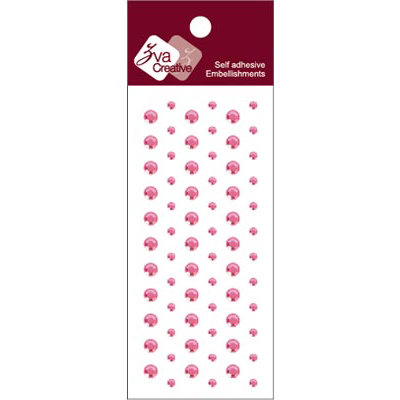 Zva Creative - Self-Adhesive Crystals - Dots - Soft Pink