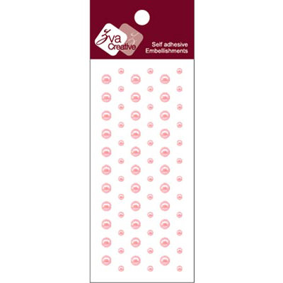 Zva Creative - Self-Adhesive Pearls - Dots - Soft Pink