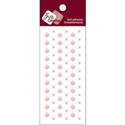 Zva Creative - Self-Adhesive Pearls - Dots - Soft Pink