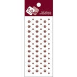 Zva Creative - Self-Adhesive Pearls - Dots - Chocolate