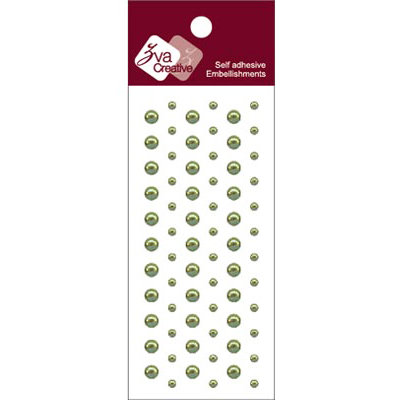 Zva Creative - Self-Adhesive Pearls - Dots - Olive