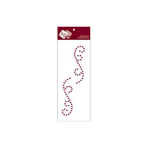Zva Creative - Self-Adhesive Crystals - Small Symmetrical Flourishes 4 - Grape