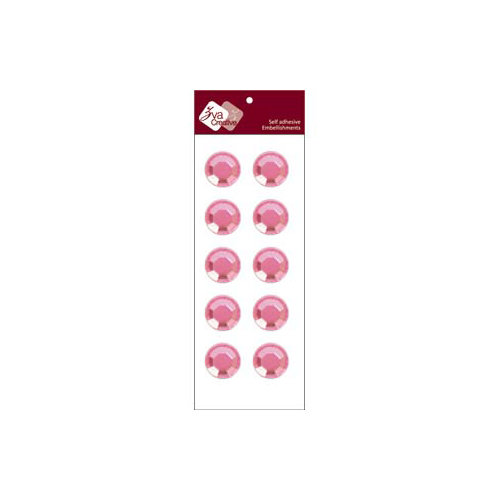 Zva Creative - Self-Adhesive Crystals - Dots 2 - Pink