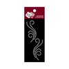 Zva Creative - Self-Adhesive Crystals - Small Symmetrical Flourishes 5 - Clear