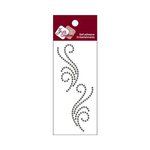 Zva Creative - Self-Adhesive Crystals - Small Symmetrical Flourishes 5 - Smoke
