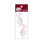Zva Creative - Self-Adhesive Crystals - Small Symmetrical Flourishes 5 - Pink