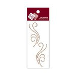 Zva Creative - Self-Adhesive Crystals - Small Symmetrical Flourishes 5 - Champagne