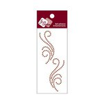 Zva Creative - Self-Adhesive Crystals - Small Symmetrical Flourishes 5 - Chocolate