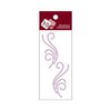 Zva Creative - Self-Adhesive Crystals - Small Symmetrical Flourishes 5 - Lavender