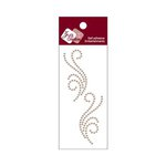 Zva Creative - Self-Adhesive Pearls - Small Symmetrical Flourishes 5 - Taupe