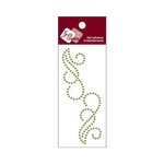 Zva Creative - Self-Adhesive Pearls - Small Symmetrical Flourishes 6 - Olive