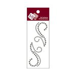 Zva Creative - Self-Adhesive Crystals - Small Symmetrical Flourishes 7 - Smoke