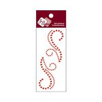 Zva Creative - Self-Adhesive Crystals - Small Symmetrical Flourishes 7 - Red