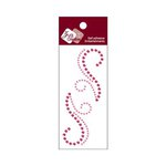 Zva Creative - Self-Adhesive Crystals - Small Symmetrical Flourishes 7 - Pink and Rosy
