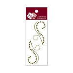 Zva Creative - Self-Adhesive Crystals - Small Symmetrical Flourishes 7 - Lime and Olive