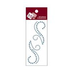 Zva Creative - Self-Adhesive Crystals - Small Symmetrical Flourishes 7 - Ice Blue
