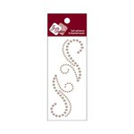 Zva Creative - Self-Adhesive Pearls - Small Symmetrical Flourishes 7 - Taupe
