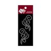 Zva Creative - Self-Adhesive Crystals - Small Symmetrical Flourishes 8 - Clear