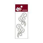 Zva Creative - Self-Adhesive Crystals - Small Symmetrical Flourishes 8 - Smoke