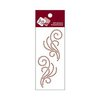Zva Creative - Self-Adhesive Crystals - Small Symmetrical Flourishes 8 - Chocolate