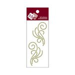 Zva Creative - Self-Adhesive Crystals - Small Symmetrical Flourishes 8 - Olive