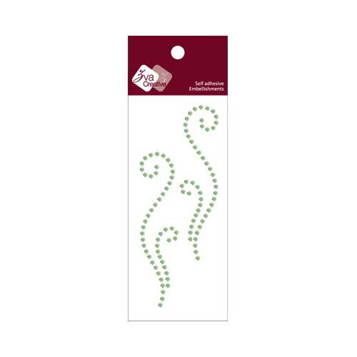 Zva Creative - Self-Adhesive Crystals - Small Symmetrical Flourishes 9 - Lime