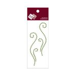 Zva Creative - Self-Adhesive Crystals - Small Symmetrical Flourishes 9 - Olive