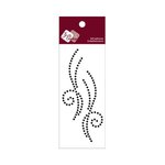 Zva Creative - Self-Adhesive Crystals - Small Symmetrical Flourishes 10 - Jet