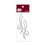 Zva Creative - Self-Adhesive Crystals - Small Symmetrical Flourishes 10 - Smoke