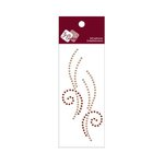 Zva Creative - Self-Adhesive Crystals - Small Symmetrical Flourishes 10 - Champagne and Chocolate