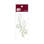 Zva Creative - Self-Adhesive Crystals - Small Symmetrical Flourishes 10 - Olive and Lime
