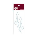 Zva Creative - Self-Adhesive Pearls - Small Symmetrical Flourishes 10 - Soft Blue