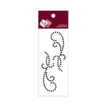 Zva Creative - Self-Adhesive Crystals - Small Symmetrical Flourishes 11 - Jet