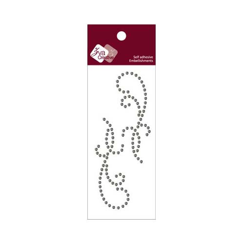 Zva Creative - Self-Adhesive Crystals - Small Symmetrical Flourishes 11 - Smoke