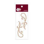 Zva Creative - Self-Adhesive Crystals - Small Symmetrical Flourishes 11 - Orange