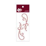 Zva Creative - Self-Adhesive Crystals - Small Symmetrical Flourishes 11 - Red
