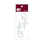 Zva Creative - Self-Adhesive Crystals - Small Symmetrical Flourishes 11 - Ice Blue