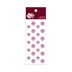 Zva Creative - Self-Adhesive Crystals - Mini Flowers - Pink