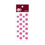 Zva Creative - Self-Adhesive Crystals - Mini Flowers - Rosy