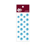 Zva Creative - Self-Adhesive Crystals - Mini Flowers - Ice Blue