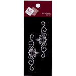 Zva Creative - Self-Adhesive Crystals - Small - Tiara Flourish