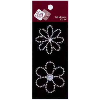Zva Creative - Self-Adhesive Crystals - Small - Sparkling Flowers, CLEARANCE
