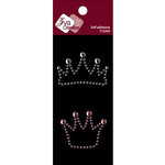 Zva Creative - Self-Adhesive Crystals - Crowns - Clear and Pink, CLEARANCE